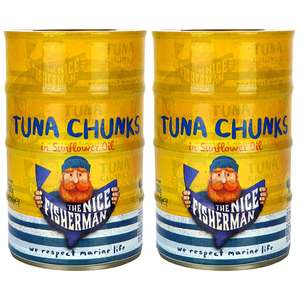 8 x The Nice Fisherman Tuna Chunks In Sunflower Oil or brine 145g Tins £8 at Yankee Bundles free delivery