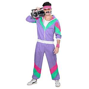 Widmann Adult's 80s Tracksuit Fancy Dress Costume from £15.61 (Prime) + £4.49 (non Prime) at Amazon