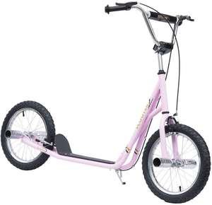 """Scooter with Pneumatic 16"""" Tyres - Pink £75.59 delivered - Mailand UK [Possible £71.39] using code @ Aosom"""