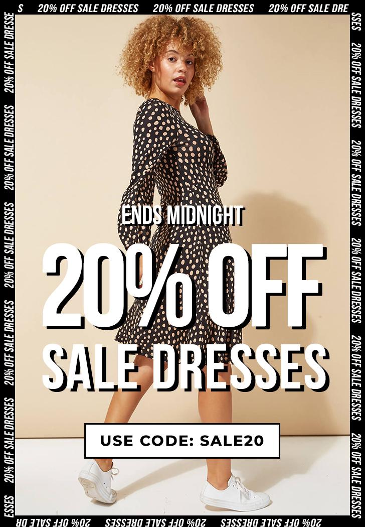 20% off Sale dresses at Roman Originals with code until midnight.