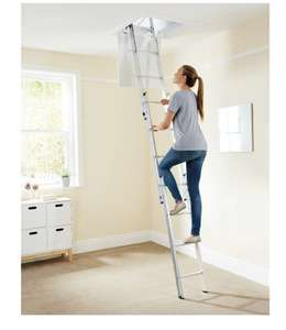 Abru Aluminium Loft Ladder - 3 Overlapping sections £52.99 + £6.95 delivery (Aldi online)