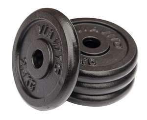 4x 2.5kg cast iron weight plates £39.99 delivered @ Sweatband - 7.2% on quidco