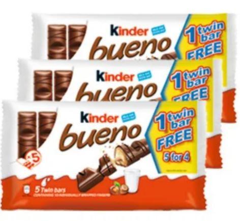 15 twin bars of Kinder Bueno - £5 @ Farmfoods