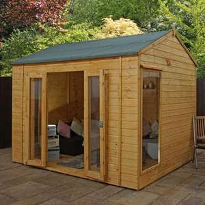 Mercia Large 10 x 8 Garden Summerhouse - Vermont £879.97 + £14.99 delivery at Furniture123
