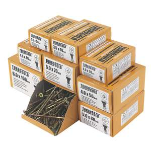 TurboGold PZ Double Self-Countersunk Wood screws Trade Pack 1400 Pcs £19.99 + £5 delivery @ ScrewFix