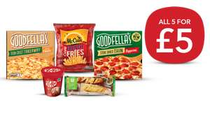 Freezer Fillers (2 Goodfellas Pizzas / Baguettes / McCain French Fries / Nestle Kit Kat Ice-Cream Tub) £5 or £4.50 NUS @ Co-op