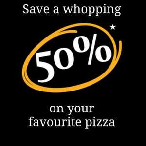 50% off your favourite Pizzas at Pizza Express Different options every day via Deliveroo (New Customers)