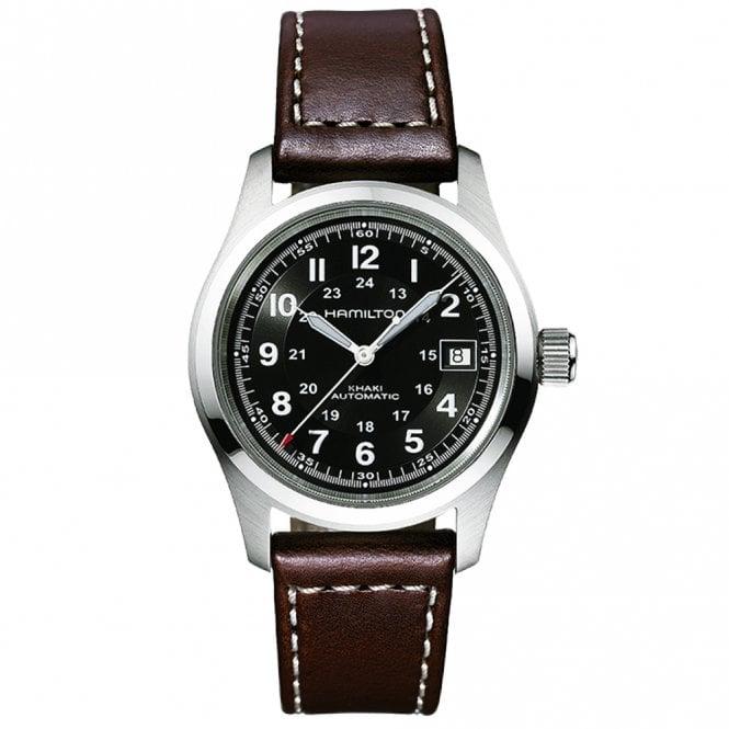 Hamilton Khaki Field 38mm Black Dial & Brown Strap Automatic Watch - £372 @ Berry's Jewellers