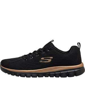 SKECHERS Womens Graceful Get Connected Trainers Black/Rose Gold - £32.99 + £4.99 Delivery @ MandM Direct