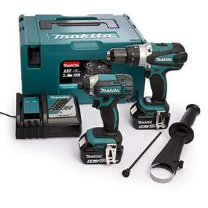 Makita DLX2145TJ Combi Drill and Impact Driver 18 V Kit + 2 x 5.0 Ah Batteries and Charger £269.99 via Amazon Prime now (Location Specific)