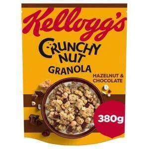 Kellogg's Crunchy Nut Granola Hazelnut & Chocolate or Fruit & Nut 380g - £1.50 (Min Spend / Delivery Fee Applies) @ Iceland