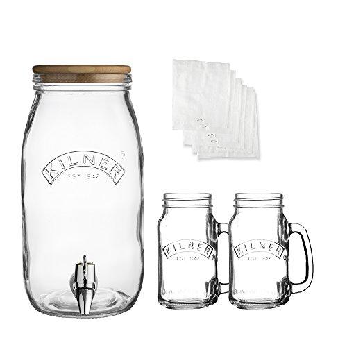 Kilner Glass Kombucha Drinks Set (3 Litre Drinks Dispenser + 2 Handled Jars) £9.99 (+£4.49 NP) Delivered @ Amazon