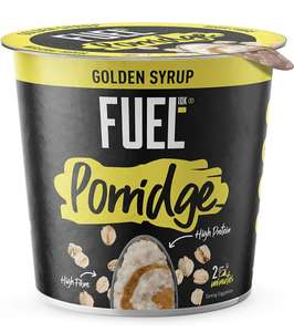 Fuel 10K Porridge Pots Golden Syrup 8 x 70g - £3.36 (Prime) / £8.35 (None Prime) Delivered @ Amazon