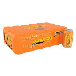 Lucozade Energy Sparkling Orange Drink 24 X 330Ml £6.95 (+ Delivery Charge / Minimum Spend Applies) @ Tesco