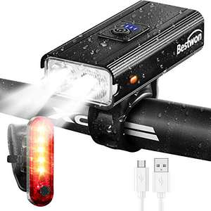 Bestwon Bike Light Set - 1000 Lumens - £12.74 using voucher Prime / +£4.49 non Prime Sold by JIE NA YXGS2 and Fulfilled by Amazon