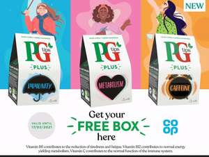 FREE Box of PG Tips Plus Tea with voucher at Co-Op