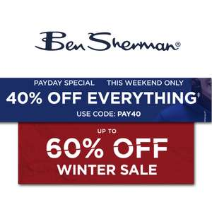 40% off everything + Works on the up to 60% off sale - Free Mainland UK Delivery On Orders Over £30 (Otherwise £3) @ Ben Sherman