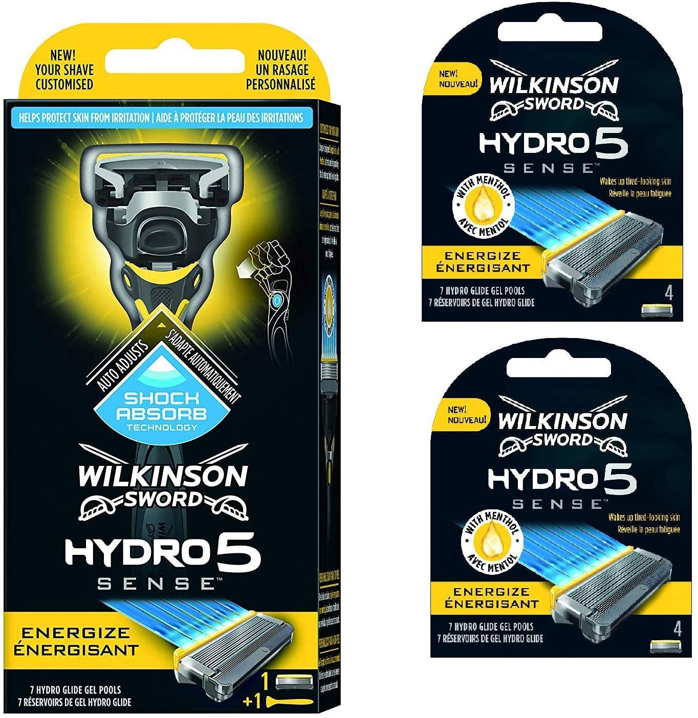 Wilkinson Sword Hydro 5 Sense Pack of Handle and 8 Blades (0.83p / blade) - Costco (Wembley) - £7.48