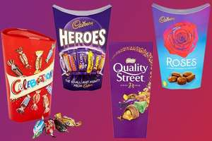 Quality Street/Heroes/Celebration/roses/ chocolate Boxes £2 (Minimum Basket / Delivery Fee Applies) at Tesco