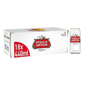 Stella Artois Premium Lager Beer Can, 18 x 440 ml - £13 (+£4.49 Non-Prime) from Amazon