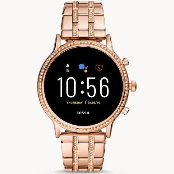 Fossil FTW6035 Women's Julianna HR Bracelet Strap Touch Screen Smartwatch, Rose Gold/Black - £195 @ John Lewis & Partners