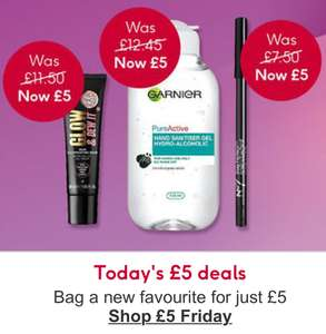 Boots £5 Friday Flash sale - toothbrush heads, Lee Stafford, No 7 beauty products, Gillette, soap and glory, Olay, Barry M - £3.50 delivery