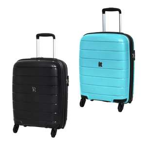 it Luggage Asteroid Expandable 4 Wheel Hard Cabin Suitcase (Black or Blue) for £18 + £3.95 delivery @ Argos