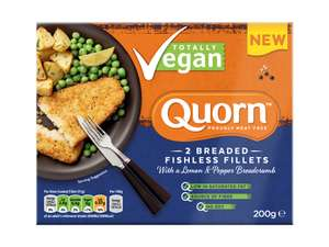 Quorn 2 Breaded Fishless fillets 45p (Instore only) Morrisons Paisley