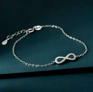 Premium Sterling Silver CZ Infinity Bracelet £9.99 Delivered - ideal for Valentines @ John Greed Jewellery