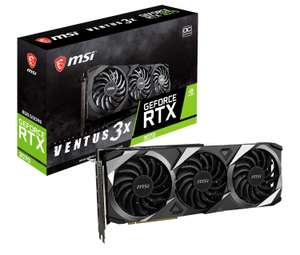 MSI NVIDIA GeForce RTX 3070 VENTUS 3X OC 8GB GDDR6 Graphics Card £725.98 delivered at Novatech