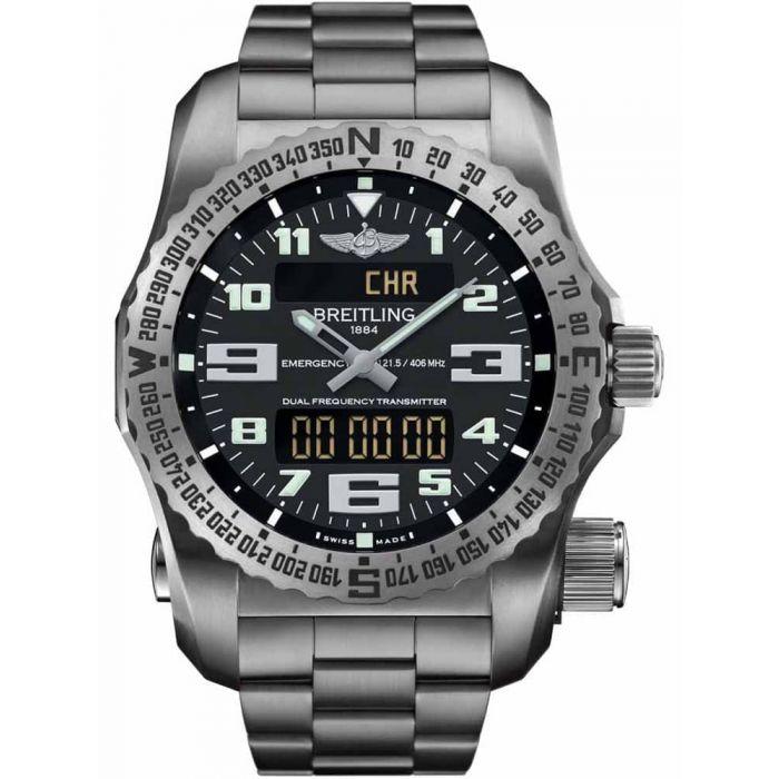 Breitling Mens Professional Emergency II Titanium Bracelet Watch E76325G1/BC02 159E - £8995 delivered @ TH Baker