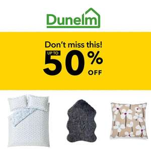 Dunelm Up to 50% Off - £3.99 delivery / free over £49