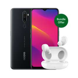 """OPPO A5 (6.50"""" Screen,3GB/64GB, Dual SIM, Snapdragon 665, 5000mAh Battery) Bundle with Enco W11 True Wireless £116.99 Delivered @ Oppo Store"""