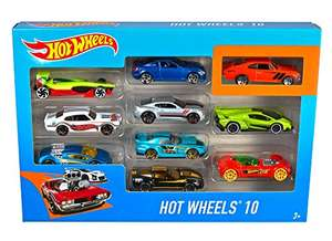 Hot Wheels 10 Car Pack Assortment (Pack May Vary) £10 (+£4.49 Non Prime) @ Amazon