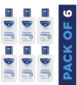 Cuticura Original Anti Bacterial Hand Gel 100ml (Pack of 6) + £4.49 NP (£5.50 S&S) @ Amazon