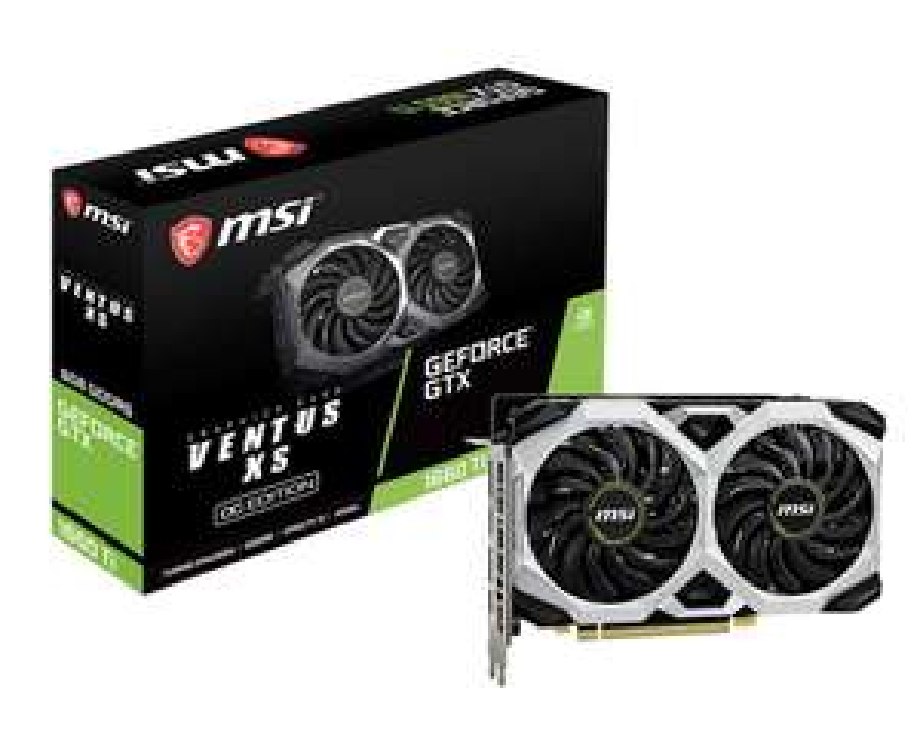 MSI GeForce GTX 1660 Ti Ventus XS 6GB OC GPU £329.99 @ CCLOnline