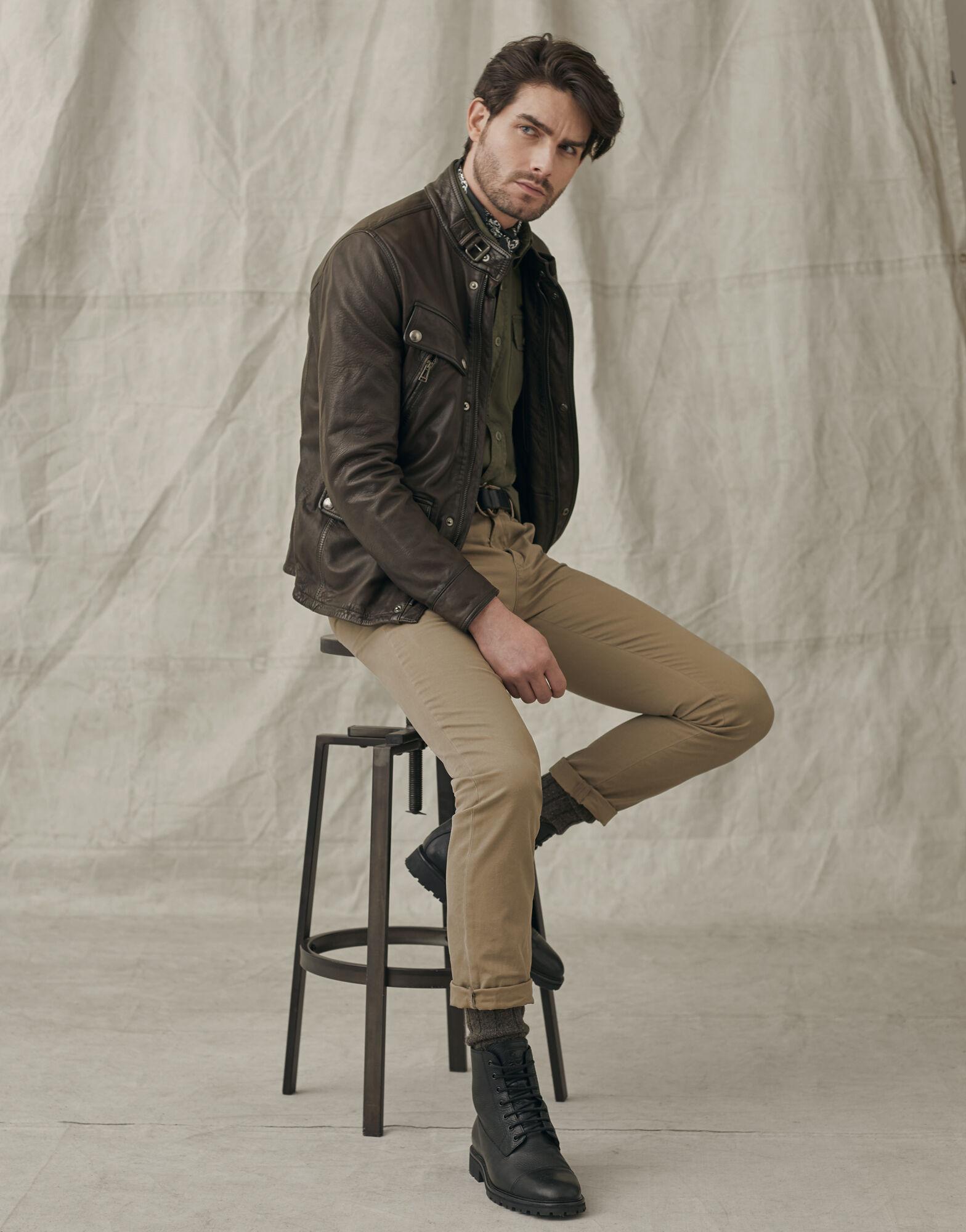 BELSTAFF Mens Denesmere leather Jacket (Black) £399.99 + £4.99 delivery @ sportpursuit
