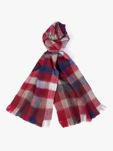 Barbour Nine Square Lambswool check scarf for £16.48 (+£3.50 delivery) at John Lewis