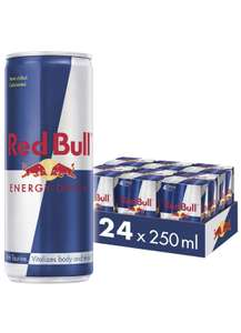 Red Bull Energy Drink 24 Pack of 250 ml (6 Packs of 4) £21 at Amazon