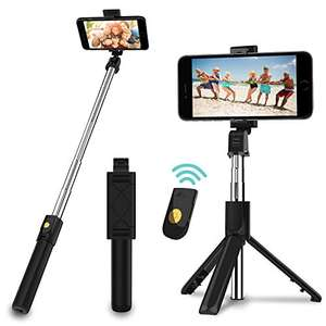 SYOSIN Selfie Stick with Detachable Wireless Remote and Tripod Stand £7.99 (+£4.49 non-prime) - Sold by JPARR UK and Fulfilled by Amazon