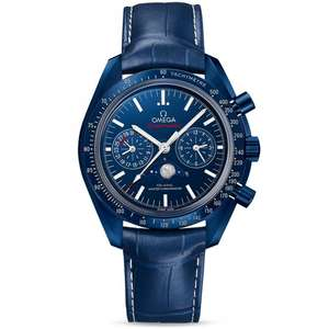 OMEGA OMEGA SPEEDMASTER 44.25MM BLUE CERAMIC & DIAL MOONPHASE Chronograph Watch £7785 at Berry's Jewellers