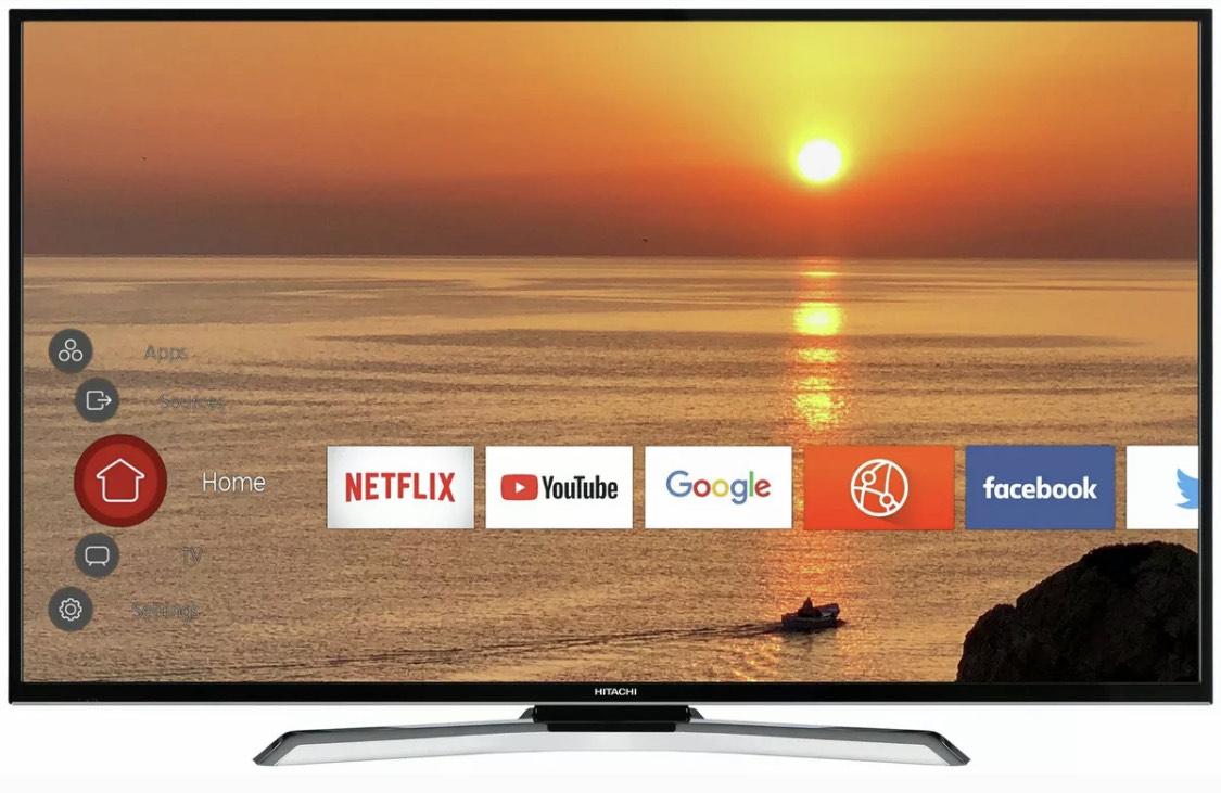 Hitachi 55HK6100UA 55 Inch 4K Ultra HD HDR Freeview Smart WiFi LED TV £339.99 at Argos Ebay