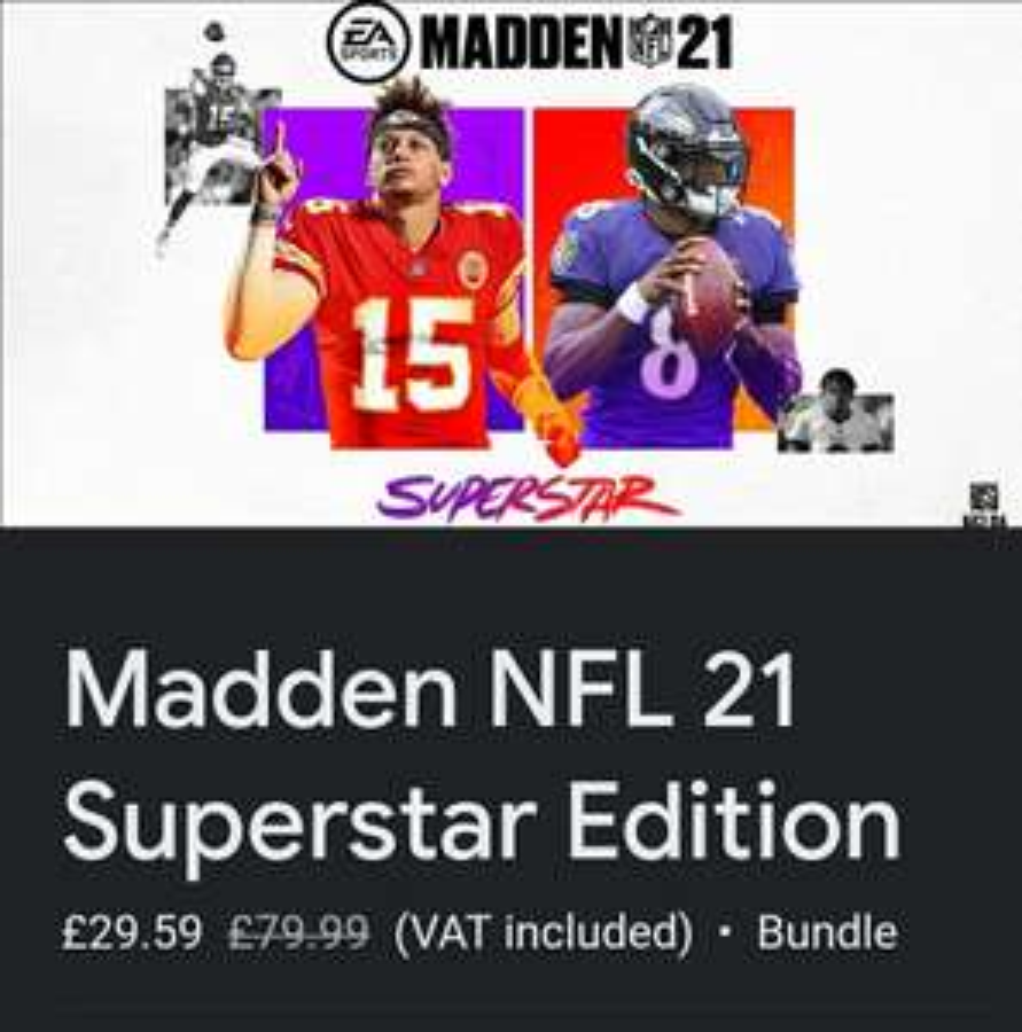 Stadia - Madden NFL 21 Superstar Edition at Google Stadia for £29.59