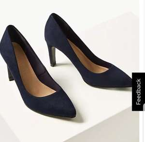 Stiletto Heel Pointed Court Shoes Blue £6 + £3.50 del at Marks & Spencer (delivery free when spend £50 )
