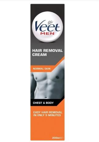 Veet Men Hair Removal Cream Chest & Body 200ml £4.99 + £3 delivery Superdrug