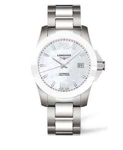 Longines Conquest L3.657.4.86.6 Automatic 41mm Watch Mother of Pearl dial £750 @ Banks Lyon