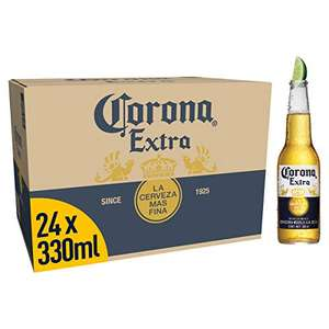 Corona Extra Mexican Lager Beer Bottle, 24 x 330ml £18.67 / £23.16 non-prime (£13.67 With visa discount - for applicable accounts) @ Amazon