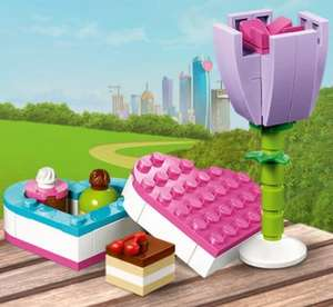 Free Flower and Chocolate box with purchases over £40 @ Lego
