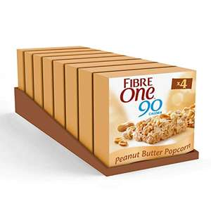 Fibre One 90 Calorie Peanut Butter High Fibre Bars 4 x 21g (Pack of 8, total 32 Bars) £7.84 (Prime) + £4.49 (non Prime) at Amazon