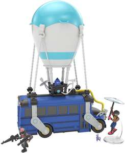Fortnite Battle Royale Collection Battle Bus and 2 Exclusive Figures Funk Ops and Burnout, Blue - £26.99 @ Amazon